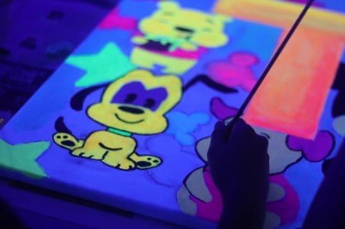 Neon Art Jamming Canvas Home Kit - DIY Creative Kits Singapore