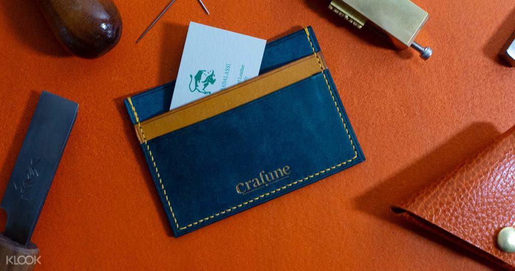 Leather Craft Workshop Singapore - crafune